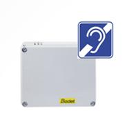 Jednotka Harmonys LINE umožňuje připojení IP audio systému Harmonys k zesilovači ndukční smyčky nebo 100 V audio zesilovači